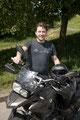 14.5.18 René überglücklich. Viel Spaß beim Motorrad fahren. ;)