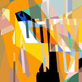 FISCH   2003   -   Acrylfarbe auf LW   -   1,3m x 1,3m