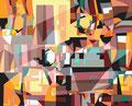 OHNE TITEL   2003   -   Acrylfarbe auf LW   -   1,3m x 1,6m