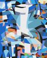 MIT GROSSEN SCHRITTEN...   2003   -   Acrylfarbe auf LW   -   1,6m x 1,3m