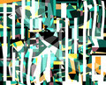 WALD   2003  -   Acrylfarbe auf LW   -  1,3m x 1,6m