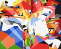 ZERSPLITTERUNG   2003   -   Acrylfarbe auf LW   -   1,3m x 1,6m