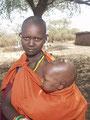 Massai-Kind mit Kind