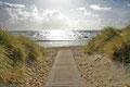 Der Weg zum Strand von Nieblum