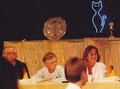 Birgitta bei Best in SHOW beim SDRV mit Kitty de Bruin (NL) und Alfred Bronisch (D)