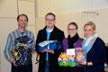 Herr Creydt, Herr Eggert, Frau Spieske und Frau Greive (links nach rechts)