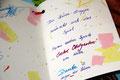 Eine Wunschkarte, die individuell von den Kindern gestaltet wurde.