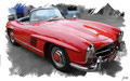 Mercedes 300 SL Roadster 1960, based on a photo by Sicnag who licensed it CC BY 2.0