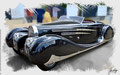 Bugatti, Typ 57,1938, based on a photo by Brian Snelson who licensed it CC BY 2.0