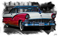 Ford Fairlane 1958, based on a photo by Bob P.B. who licensed it CC BY 2.0