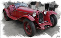 Alfa Romeo 8C 2300 Touring Spider, based on a photo by Brian Snelson who licensed it CC BY 2.0