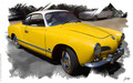 Karmann Ghia Typ 14, 1965, based on a photo by Sicnag who licensed it CC BY 2.0