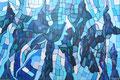 Blaue Landschaft,2016, 80x90cm, Acryl auf leinwand
