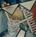 """""""Transformationen"""", Mischtechnik auf Leinwand, 160 x 160 cm 1982"""