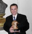 """15 dicembre 2012 - Lecce, Antico Teatro G. Paisiello. Assegnazione Alto Riconoscimento Artistico """" Premio Nettuno 2012 """". Foto ricordo."""
