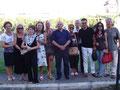 """24.07.2010 - Policoro ( MT ). Foto di gruppo con gli Amici Artisti del Circolo Culturale """" F.lli Rosselli """"."""