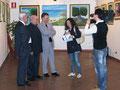 """29.04.2010 - Taranto, Galleria Comunale del Castello Aragonese. Inaugurazione della personale """" Sinfonia di colori in riva allo Jonio, 2^ edizione """"."""
