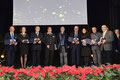"""17 dicembre 2015 - Lecce, Antico Teatro Paisiello.  Foto ricordo del Comitato d'Onore al Premio """" David di Bernini """" 2015 ( Italphoto Mesagne )"""