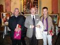 """5 dicembre 2010 - Inaugurazione rassegna d'Arte """" La città e il Natale 2010 """". Nella foto da sinistra: il Maestro Ruggero Di Giorgio, il Dr. Antonio Biella, Vincenzo Santoro."""