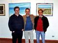 """Maggio 2008 - Taranto, Galleria Comunale del Castello Aragonese. """" Sinfonia di colori in riva allo Jonio """".Nella foto da sinistra: Angelo Colonna, Vincenzo Santoro, Carlo Cassone."""