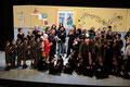 """31 gennaio 2018 - Francavilla Fontana ( BR ), Teatro Italia. Delegati dall'Accademia """"Italia in Arte nel Mondo"""" conferiamo il Premio per i Diritti Umani 2017 """"V.Hugo""""   all'I.C. """"Aldo Moro"""" per una rappresentazione teatrale sulla Shoah,"""