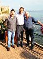 29 maggio 2015 - Taranto. Nella splendida sede del Palio di Taranto sul Lungomare insieme al dr. Francesco Simonetti, presidente del Palio di Taranto e al M° Nicola Giudetti.