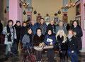 """14 gennaio 2017 - Taranto, chiesa SS. Maria della Scala. Foto ricordo degli artisti partecipanti alla 32^ rassegna d'arte """"La Città e il Natale"""". (Foto di Pasquale Raffo)."""