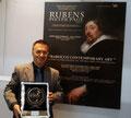 27 giugno 2015 - Lecce, Grand Hotel President. Davanti al manifesto dell'evento con il Premio Rubens. ( Foto I. Santoro )