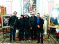 28 dicembre 2017 - Tranto, chiesa SS.Maria della Scala. Foto ricordo. Da sn: Alberto Carone, Nicola Giudetti, la dott.ssa Sandra Tarantino, Pasquale Chiochia, io. (Foto di Nicola Cardellicchio)