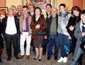 """5 dicembre 2010 - Inaugurazione rassegna d'Arte """" La città e il Natale 2010 """". Foto di gruppo con Amici Artisti cel Circolo Culturale """" F.lli Rosselli """"."""
