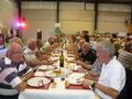 La table des Picards au repas du samedi soir