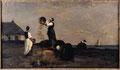 Karl Pierre Daubigny (1846-1886), Les vanneuses à Kérity, 1868, huile sur toile.
