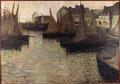 Eugène Lawrence Vail (1857-1934), Barques à Concarneau, vers 1884, huile sur toile, dépôt du Musée d'Orsay.