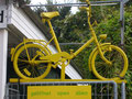 Klein-Fahrrad=  Fahrradverleihung am Bahnhof Rehnsburg  am NOK= Nard-Ostsee-Kanal