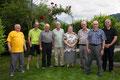Die Jubilaren: Hans, Roger, Noldi, Paul, Maria, Toni, Sepp und Peter
