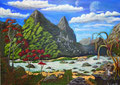 Fantasy Landschaft - Acryl auf Leinwand - 70*50 cm -2014