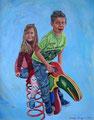 Lucas en Juno, olie op doek, 58 x 48, 2015
