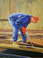 snijder, olie op doek, 50 x 40, 2009