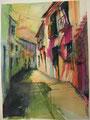 callejuela de Priego. 31 x 41 cm. 2007