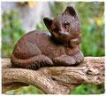 Gartenstecker mit rostiger Katze
