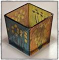 Glaskunst Teelicht mit Malerei