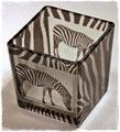 Windlicht mit Zebra