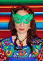 MONTEZUMA mexikanisches Folklorekleid mit Pachworkdetails