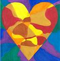Heart nach Jim Dine, Julia Wojcik, Klasse 7