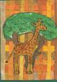 Giraffe in der Savanne, Tizian Häusner, Klasse 4b