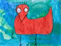 Die Vögel aus Kaltland und Warmland - Malen wie James Rizzi, Nico Smetana, Klasse 1
