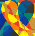 Heart nach Jim Dine, Mira Flegler, Klasse 7