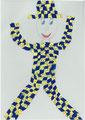 Harlekin nach Pablo Picasso, Giuliana Muthig, Klasse 4