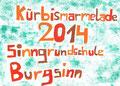 Etikett Kürbismarmelade, Lea Weikinger, Klasse 9