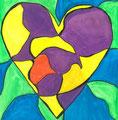 Heart nach Jim Dine, Antonia Filippi, Klasse 7